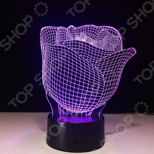 Светильник 3D «Роза»