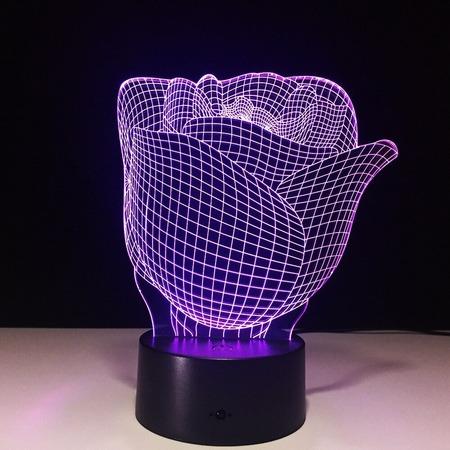 Купить Светильник 3D «Роза»