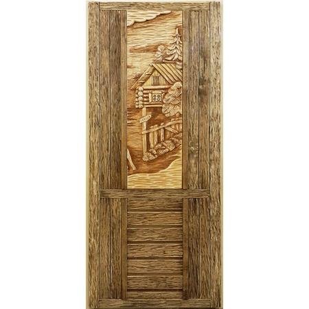 Купить Дверь с резной вставкой Банные штучки 32260
