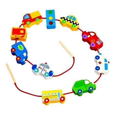 Купить Игра развивающая для малыша Mapacha «Шнуровка - бусы. Транспорт»
