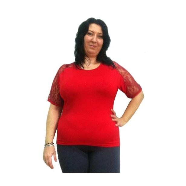 фото Блузка Матекс Регина. Цвет: красный. Размер одежды: 54