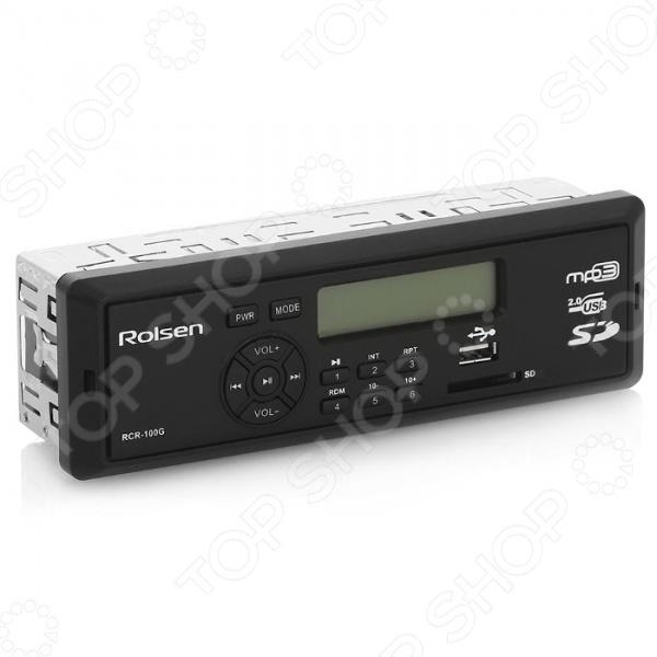 Автомагнитола Rolsen RCR-100G является ведущим элементом автомобильной аудиосистемы. Модель сочетает в себе функции радиотюнера с предустановкой на 18 радиостанций и MP3-проигрывателя. Автомагнитола снабжена фиксированной лицевой панелью, монохромным дисплеем и встроенным USB-портом. Имеется слот для карт памяти SD MMC. Выходная мощность 4х45 Вт обеспечивает высокое качество звучания.