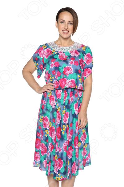 Платье Pretty Woman «Сердечная женщина». Цвет: васильковый платье pretty woman прелестная женщина цвет зеленый