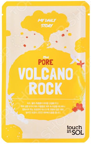 Маска тканевая для лица touch in SOL My Daily для жирной кожи «Вулканическая лава» touch in sol тканевая маска витаминная с экстрактами ягод my daily 25мл