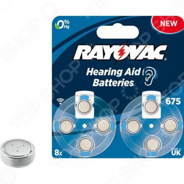 Элемент питания VARTA Rayovac AC.TYPE 675 8 батарейка varta max tech с блистер 2шт