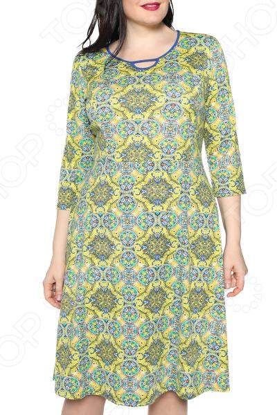Платье Лауме-стиль «Звезда моя». Цвет: оливковый