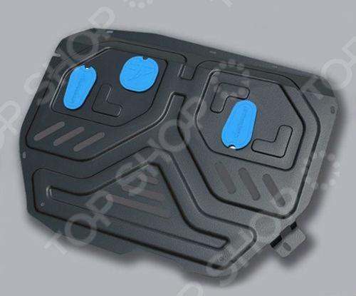 Комплект: защита картера и крепеж NLZ Mazda BT50, Ford Ranger 2005: 2,5 дизель МКПП