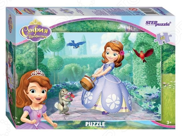 Пазл 60 элементов Step Puzzle «Принцесса София» пазл step puzzle принцесса софия disney 104 элементов