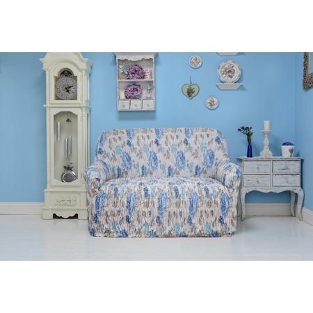 Натяжной чехол на диван Еврочехол «Цветочная фантазия»