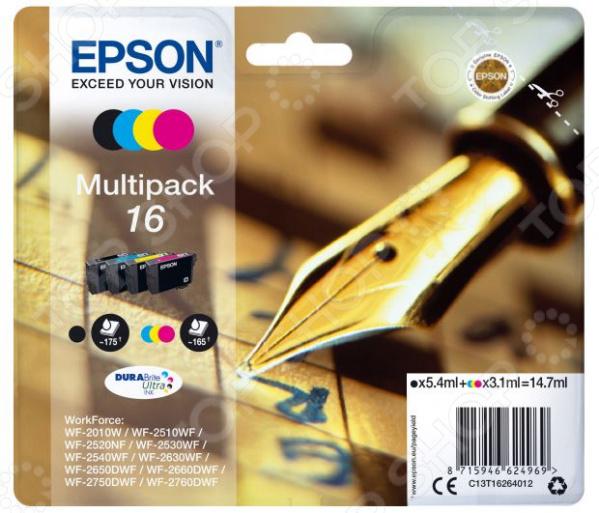 Комплект картриджей Epson T1626 для WF-2010/WF-2510/WF-2540 картридж cactus cs ept1631 для epson wf 2010 2510 2520 2530 2540 2630 2650 2660 черный