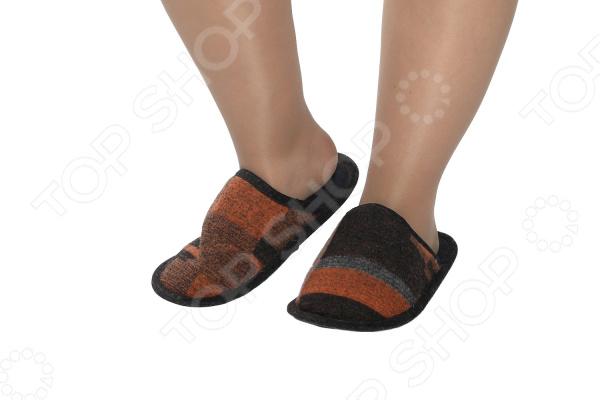 Тапочки мужские ТРЕНД «Аладдин». Цвет: черный, оранжевый