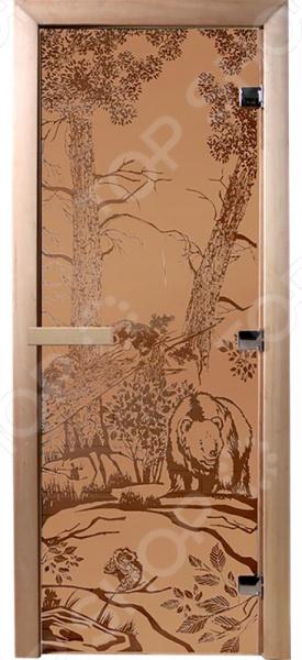 Дверь для бани Банные штучки «Мишки» 34014