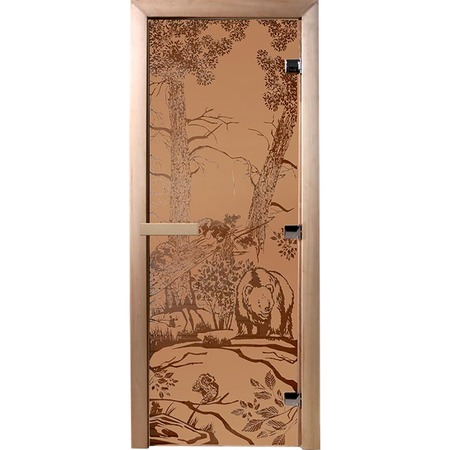 Купить Дверь для бани Банные штучки «Мишки» 34014