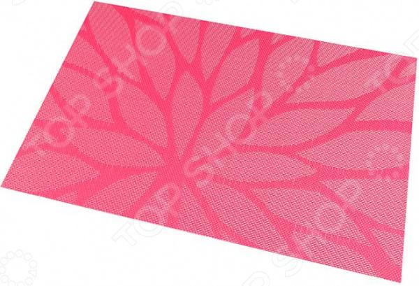 Набор салфеток для сервировки EL Casa «Листья на розовом»