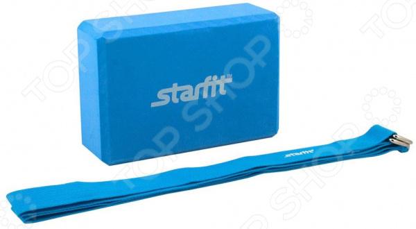 Набор: блок и ремень для йоги Star Fit FA-104 Star Fit - артикул: 971651