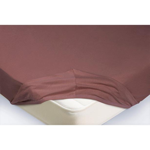 фото Простыня на резинке Ecotex трикотажная. Цвет: лиловый. Размер простыни: 200х200+20 см