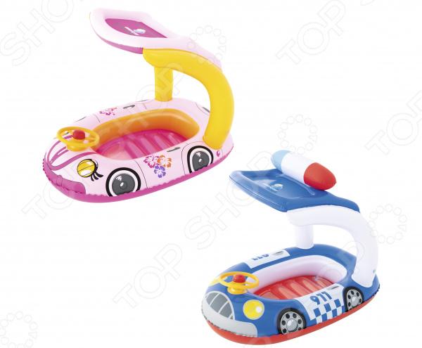 цена на Лодка надувная детская Bestway «Машинка» с тентом. В ассортименте