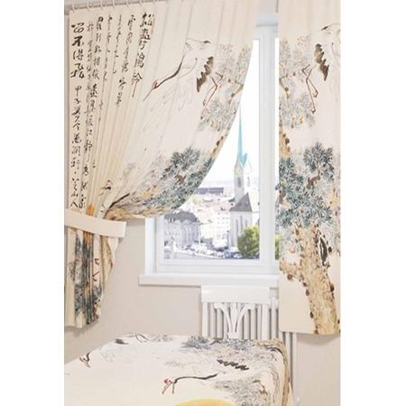 Купить Фотошторы Сирень «Японская фреска»