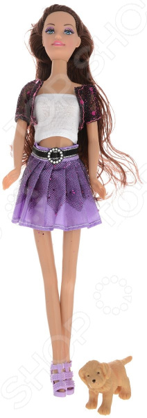 Кукла Toys Lab «Шатенка в фиолетовом: Прогулка с щенком» toys lab летний домик toys lab тойз лаб