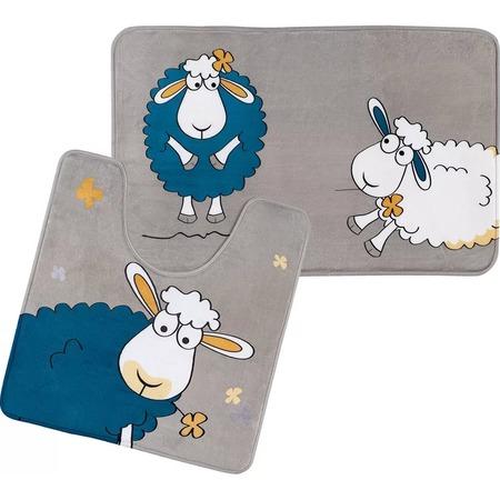 Купить Набор ковриков для ванной Tatkraft Funny Sheep