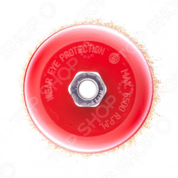 Щетка для угловой шлифовальной машины MATRIX с латунированой витой проволокой