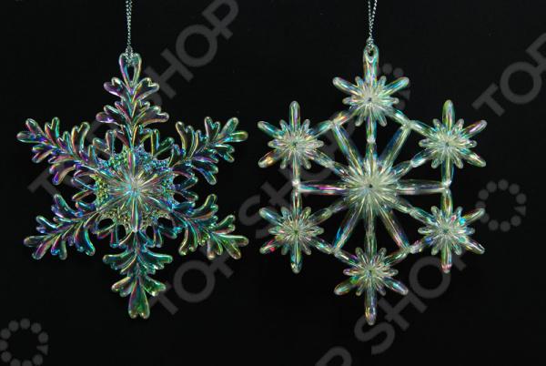 Новогоднее украшение Crystal Deco «Снежинка радужная». В ассортименте