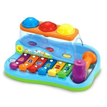 Купить Игрушка музыкальная Huile Toys «Ксилофон с молоточком и шарами»