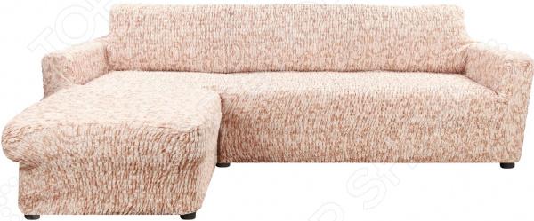 натяжной чехол на угловой диван с выступом слева еврочехол сиена сатурно Натяжной чехол на угловой диван с выступом слева Еврочехол «Сиена Джоя»