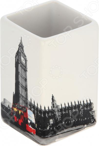 Стакан для ванной комнаты Рыжий кот «Лондон»