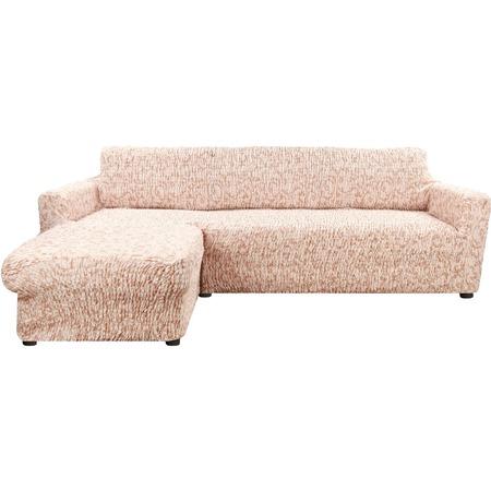 Купить Натяжной чехол на угловой диван с выступом слева Еврочехол «Сиена Джоя»