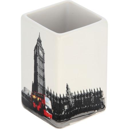 Купить Стакан для ванной комнаты Рыжий кот «Лондон»