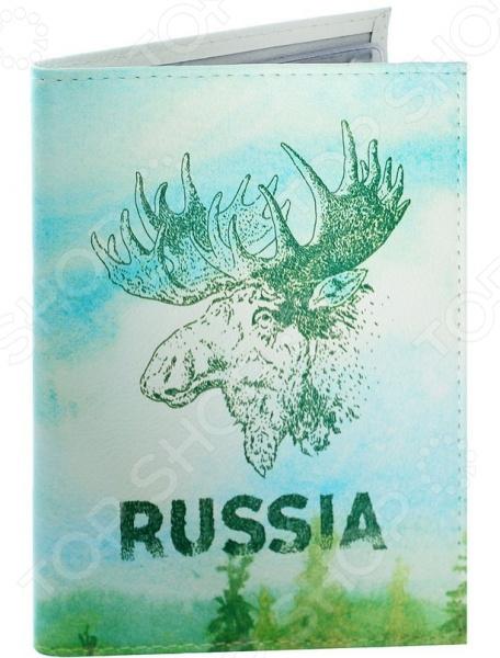 Обложка для автодокументов кожаная Mitya Veselkov «Лось» bearington лось 25 см bearington