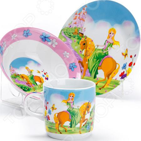 Набор посуды для детей Loraine «Принцесса» LR-27344