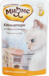 Корм влажный для кошек Мнямс «Каччиаторе по-Неаполитански» с курицей и томатами