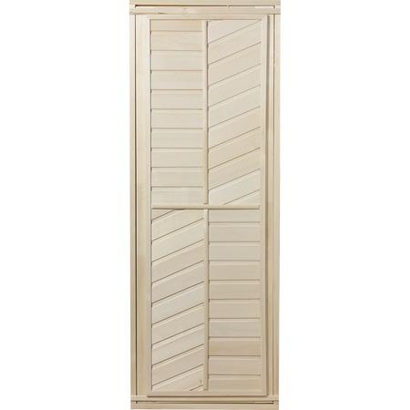 Купить Дверь для бани глухая горизонтально-диагональная Банные штучки 32215