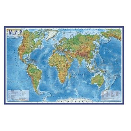 Купить Карта настенная Globen «Мир Физический» (капсульная ламинация)