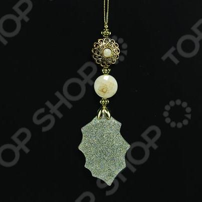 Новогоднее украшение Crystal Deco «Подвеска: лист»