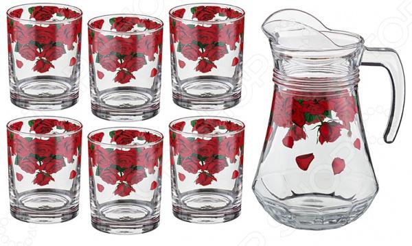 Стаканы для сока и кувшин «Розарий» набор для сока розарий