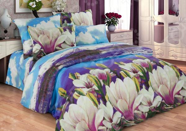 цена Комплект постельного белья Диана «Магнолия» онлайн в 2017 году