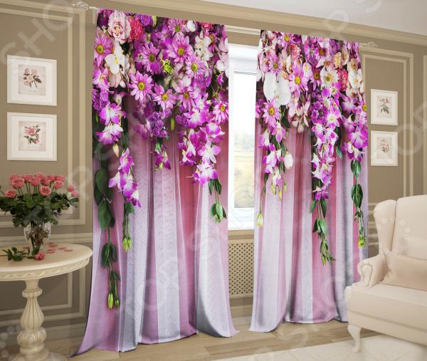Комплект фотоштор ТамиТекс «Букет цветов»