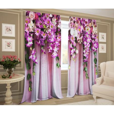 Купить Комплект фотоштор ТамиТекс «Букет цветов»
