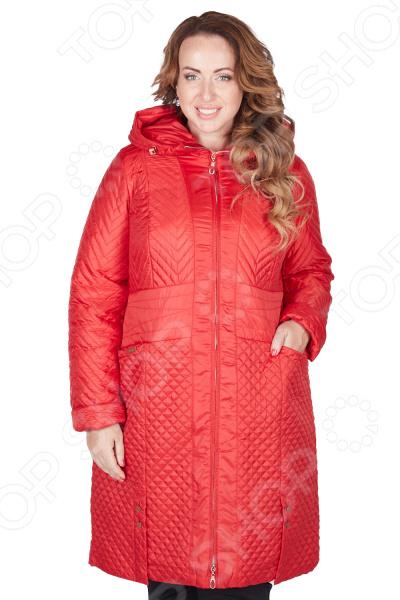 Пальто D`imma «Мирабель». Цвет: красный