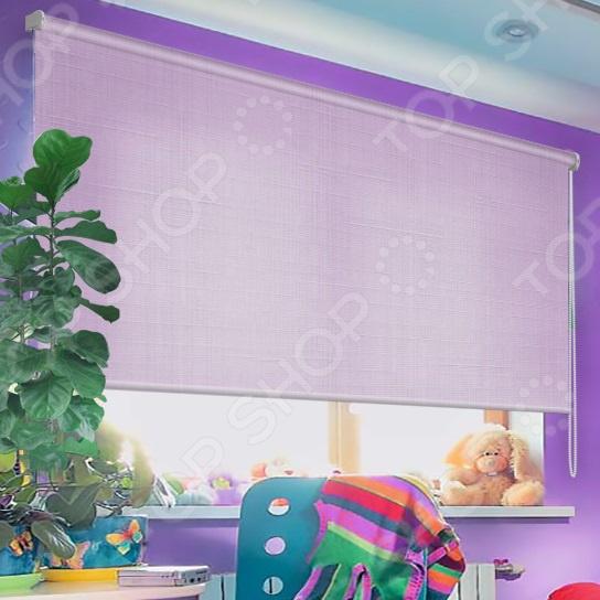 Рулонная штора Эскар однотонная. Цвет: фиолетовый шторы рулонные ролло идея рулонная штора ролло lux samba цветы зеленый оранжевый желтый 160 см