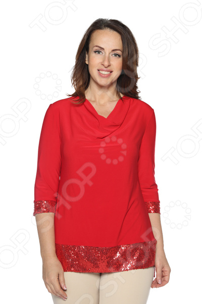 Блуза VEAS «Самаркандская царица». Цвет: красный