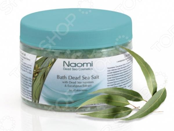 Соль для ванны Naomi Мертвое море с экстрактом эвкалипта