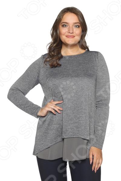 Блуза Prima Linea «Женская нежность». Цвет: серый