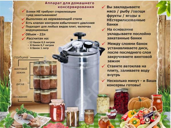 Автоклав-стерилизатор «Домашний погребок» 22 л 3