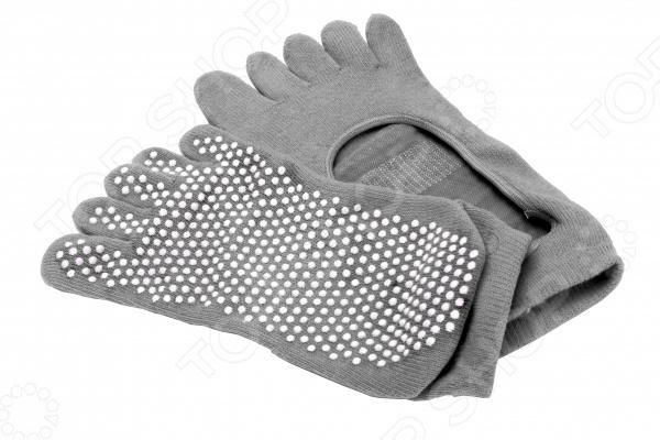 Носки противоскользящие Bradex для занятий йогой Носки противоскользящие Bradex SF 0348 /Серый