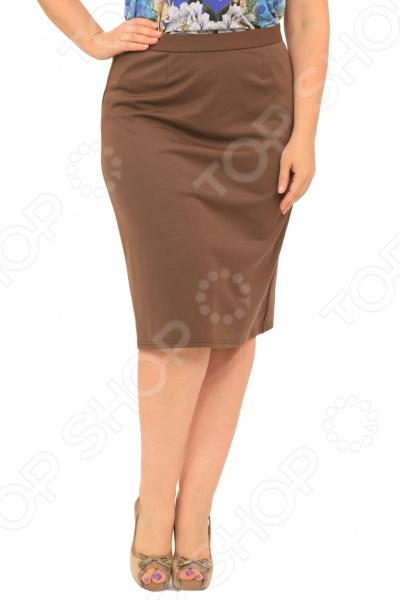 Юбка Элеганс «Эшли». Цвет: коричневый