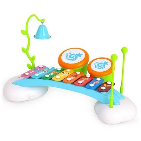 Купить Музыкальный центр для малышей Huile Toys «Ксилофон, барабаны и колокольчик»